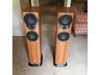 Mission M34i Speakers in Cherry/Black