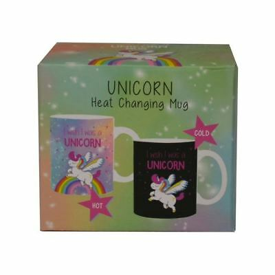 Xpressions Unicorn Heat Changing Colour Mug Tea Coffee Cup