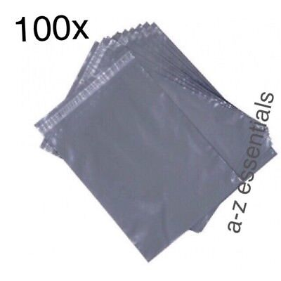 100x Grey Strong Poly Mailing Postal Bags-size -6*9