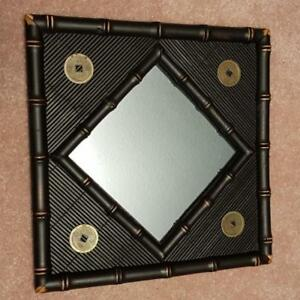 Price drop! BROWN BAMBOO STYLE MIRROR