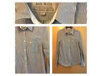 Jack wills pinstripe white and blue shirt