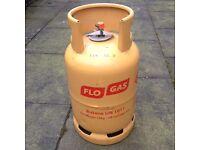 Large Flo Gas Butane Cylinder, half full, 13kg, Glasgow