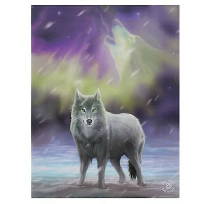 "SMALL ""AURORA"" WOLF CANVAS ART PICTURE FRAME BY ANNE STOKES"