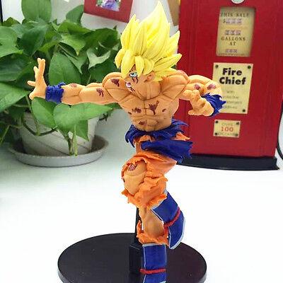 "Dragon Ball Z Super Saiyan Goku 7"" Sculpture Action Figure (High Detail) NEW BOX"