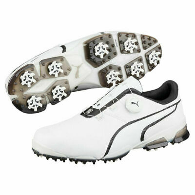 PUMA TITANTOUR IGNITE DISC GOLF SHOES WHITE/BLACK UK 8.5 WATERPROOF