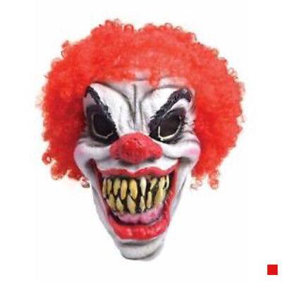 It Clown Mask Horror Scary Killer Halloween Fancy Dress Costume Red Devil uk se - Scary Clown Halloween Costumes Uk