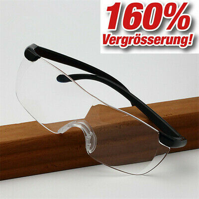 brille Lupenbrille Zauberbrille Brille Lupe Vergrößerung Etui (Vergrößerung Brille)