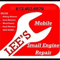 Mobile Small Engine Snow blower repair