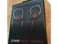 Beats by dre Powerbeats 2 Wireless Headphones Brand New with receipt earphones Black red