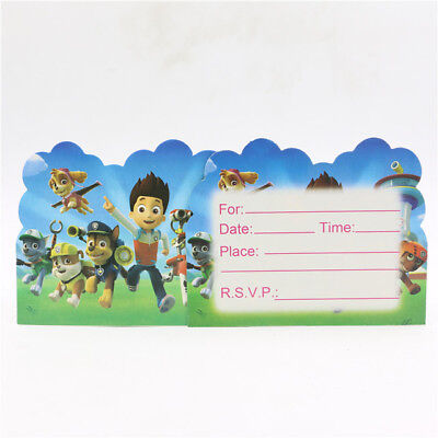 Paw Patrol Birthday Party Invitations 10 pieces Kids US Seller New! - Paw Patrol Birthday Invites