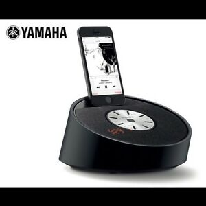 Yamaha Lightning Speaker Dock w/ Alarm Clock - Black Collingwood Park Ipswich City Preview