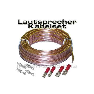 LAUTSPRECHER KABELSET / ANSCHLUSS SET - 10m ~ NEU !!! ~ inkl. Stecker
