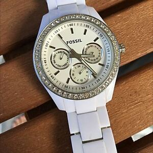 Fossil White Resin 'Stella' Watch $40