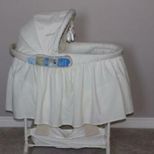 Bassinet (First Years) with change table and night light