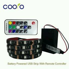 New LED Strip Light 5050 RGB Battery Powered TV Background Lighting Non Waterproof backlight strip