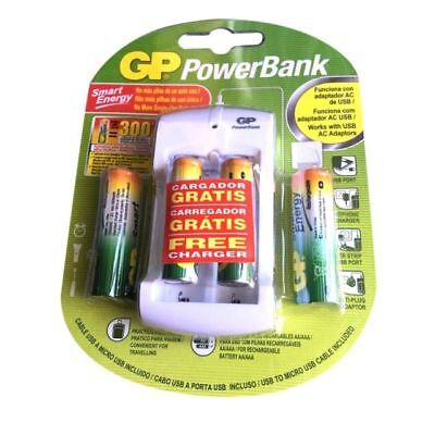 2aa Rechargeable Batteries - BRAND NEW GP Power Bank Charger W/2AA & 2 AAA Rechargeable Batteries PB310 NEW
