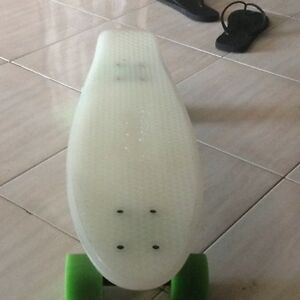 White glow in the dark pennyboard