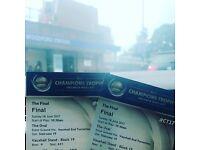ICC champions final tickets India v Pakistan x 2 BEST SEATS !!