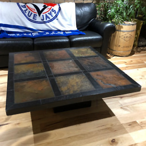 Stone coffee table & side table