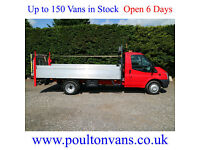 """2014 (14)FORD TRANSIT T350 EF DRW 13'6"""" EXTRA LWB HIGH SIDED DROPSIDE,NOT TIPPER"""