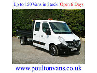 2015 (15) RENAULT MASTER CCLM35 BUSINESS D.R.W 7 SEAT CREW DROPSIDE TIPPER