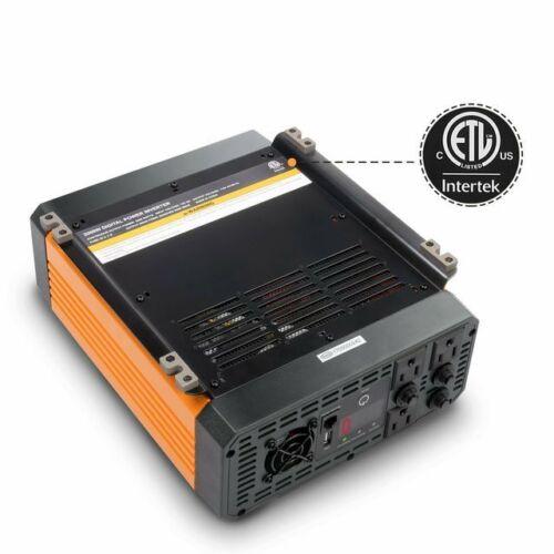 Ampeak 2000W Power Inverter 12V DC to 110V AC Car Charger w/3 Outlets 2.1A USB