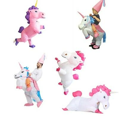 Inflatable Unicorn Costume for Kids Adult Women Christmas Party Halloween Suit