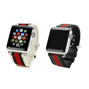 Nylon Sports Band Leather Strap Casual Watch Bands Strap for App