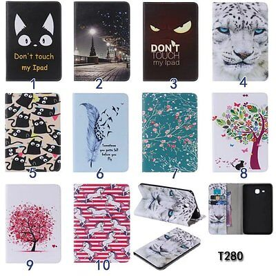 PU Leather Protective Case for Samsung Apple Tablets Cute Patterns Wallet