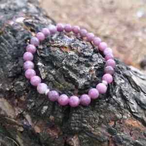 Stress Relief Natural Stone Bracelet Emotional Healing Crystals Lepidolite