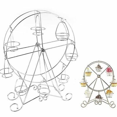 Ferris Wheel Cupcake Holder Carnival Decorations Metal Dessert Serving Tray 8 PC ()