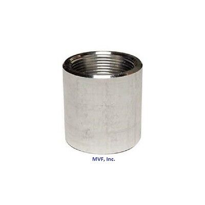 34 Npt Threaded Full Coupling Aluminum 6061-t Schedule 40 Pipe Fitting A050541