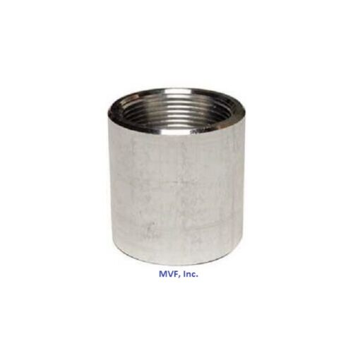 """1/2"""" NPT Threaded Full Coupling Aluminum 6061-T Schedule 40 Pipe Fitting A050441"""
