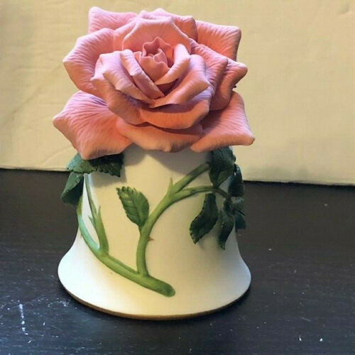 """Franklin Mint Porcelain Bell """"Sonia Rose"""" By Jeanne Holgate Hand Painted 1983"""