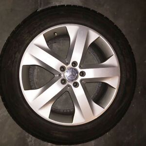 """Authentic Mercedes 19"""" rims with Pirelli tires For Sale"""