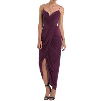 FOR HIRE: Zimmermann Oxblood Long Plunge Drape Dress Size 0 New Farm Brisbane North East Preview
