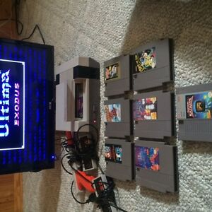 Nintendo NES System and games.