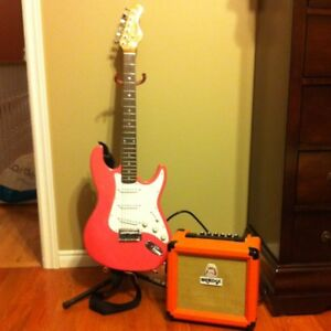 Electric Guitar & Amp- Great for beginner!