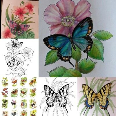 Children's Coloring Books (Adult Coloring Books For Women Men Kids Relaxation Butterflies Art of Nature)