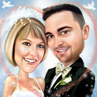 UNIQUE WEDDING CARICATURE $100
