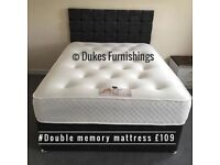 Double memory mattress £109 delivered