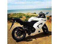 Kawasaki Ninja EX250 White 2011