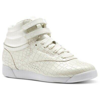 Reebok Freestyle Hi Crackle (Chalk/White) Women's Shoes CN2193 (8.5)