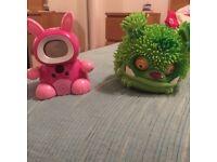 V Tech interactive pet and a Xeno koopie toy