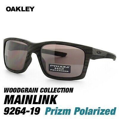 Oakley Mainlink POLARIZED Sunglasses OO9264-19 Woodgrain Frame W/ Prizm Daily (Oakley Woodgrain)
