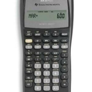 BUSINESS/FINANCIAL CALCULATOR TEXAS INSTRUMENTS BAII PLUS