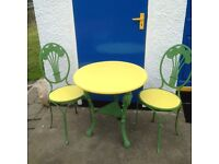 Vintage French garden/cafe table and chairs