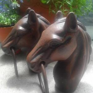 *Reduced* Cast Iron Horse Head Hitching Fence Post Top