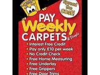 Pay WEEKLY Carpets & Cushioned flooring 🌞 No interest minimum 5 YEAR wear Warranty FREE underlay