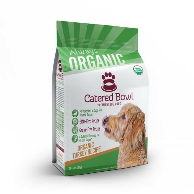 Catered Bowl Pet Food for Dog Organic Turkey 20 lb